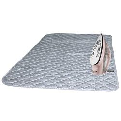 Instant Ironing Board for Small Space Living! 33 x 19″ Quilted Magnetic Ironing Mat Transf ...