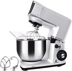 Stand Mixer, Posame 5.5-Quart 600-Watt 6-Speed Dough Mixer with Stainless Steel Bowl, Tilt Head, ...