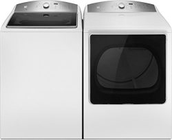 Kenmore 5.3 cu. ft. Top-Load Washer & Electric Dryer Bundle in White, includes delivery and  ...