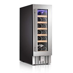 Antarctic Star Wine Cooler Beverage Refrigerator Fridge 18 Bottles 12″ Single Zone Built-i ...