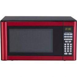 Hamilton Beach 1.1 cu ft Microwave, Features 10 power levels and several one-touch cooking (Red)