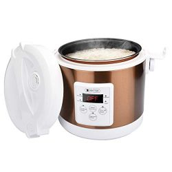 2L Electric Rice Cooker, WHITE TIGER Portable Mini Rice Cooker with Digtal Display, Intelligent  ...