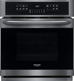 Frigidaire FGEW2766UD 27 Inch Smudge Proof Black Stainless Steel Electric Single Wall Convection ...