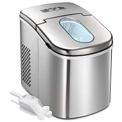 Kismile Ice Maker, Countertop Ice Maker Machine, 9 Ice Cubes Ready in 8-10 Minutes, 26 lbs Ice i ...