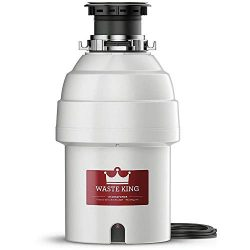 Waste King Legend Series 1 HP Continuous Feed Garbage Disposal with Power Cord – (L-8000)  ...