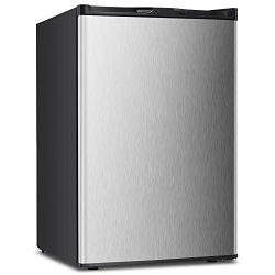 3.0 CU.FT Upright Freezer Convertible Deep Stainless Steel Capacity Frost Free Quick Freeze Func ...