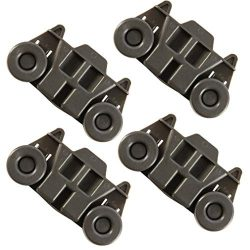 4 Pack W10195416 Dishwasher wheels lower rack for kitchenaid,W/ 1.59 In Diameter Wheels Fit kitc ...