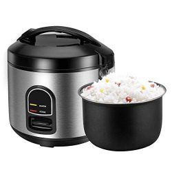 Rice Cooker, One-Touch Control,Small 5-cup Uncooked Rice Cooker Food Steamer with Removable Nons ...