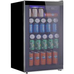 Tavata Beverage Refrigerator and Cooler – 3.2 Cu. Ft. Drink Fridge with Glass Door for Sod ...