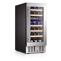 Antarctic Star Wine Cooler Beverage Refrigerator Fridge 28 Bottles 15″ Dual Zone Built-in  ...