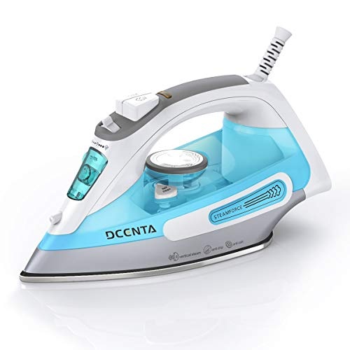 Dcenta Steam Iron for Clothes, Stainless Steel Soleplate Steam Iron with Temperature Dial and Fa ...