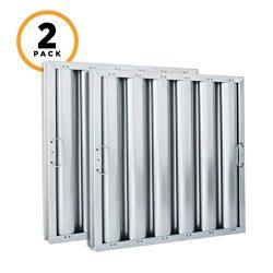 Kleen-Gard Aluminum Commercial Kitchen Range Hood Filter, 20x25x2, (Pack of 2)