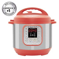 Instant Pot IP-DUO60RED Pressure Cooker, 6 quart, Red (Renewed)