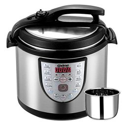 Electric Pressure Cooker Slow Cook 8 Qt Programmable 18 Kinds of Cooking Option with Stainless S ...