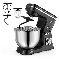 MURENKING Stand Mixer, 5-Qt 6-Speed Dough Mixer, 500W Tilt-Head Kitchen Mixer (Dough Hook and Be ...