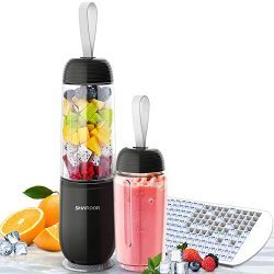 SHARDOR Portable Smoothie Blender Personal Blender for Shakes Juice with 2 Sport Bottles 1 Ice C ...