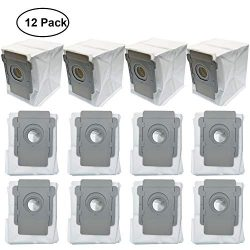 Lemige 12 Pack Vacuum Bags Compatible with iRobot Roomba i7 i7+/Plus s9 s9+/Plus Vacuum Clean Ba ...