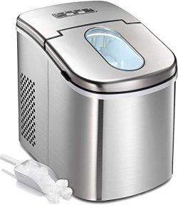 Countertop Ice Maker Machine,Portable Automatic Ice Maker,Ice Cubes Ready in 6 Mins,/1.5lbs Ice  ...