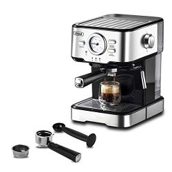 Espresso Machines 15 Bar Coffee Machine with Milk Frother Wand for Espresso, Cappuccino, Latte a ...