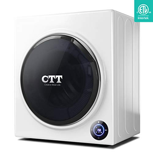 CTT 13 Lbs. Capacity/3.5 Cu.Ft. Intelligent Compact Portable Tumble Clothes Laundry Dryer, Intel ...