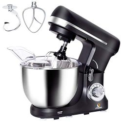 Stand Mixer, Household Mixer 5 Quarts 6-Speed Dough Mixer with Stainless Steel Bowl, Tilt-Head F ...