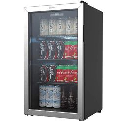 Vremi Beverage Refrigerator and Cooler – 110 to 130 Can Mini Fridge with Glass Door for So ...