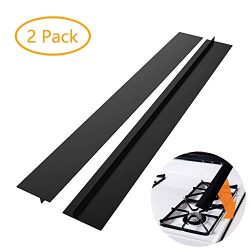 DSYJ Kitchen Silicone Stove Counter Gap Cover, Easy Clean Heat Resistant Wide & Long Gap Fil ...