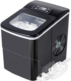 Antartic Star Countertop Portable Ice Maker Machine with Self-clean Function, 9 Ice Cubes Ready  ...