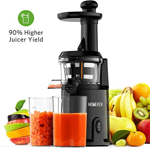 Juicer Machines, Homever Slow Masticating Juicer Extractor for Juicer Fresher, Cold Press Juicer ...