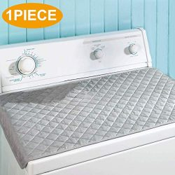 Ironing Blanket, Ironing Mat, Portable Travel Ironing Pad, 18″x32″, Gray, Washer Dry ...