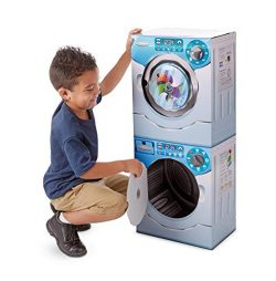 Melissa & Doug Washer/Dryer Combo Cardboard Play Set, Multicolor (Renewed)