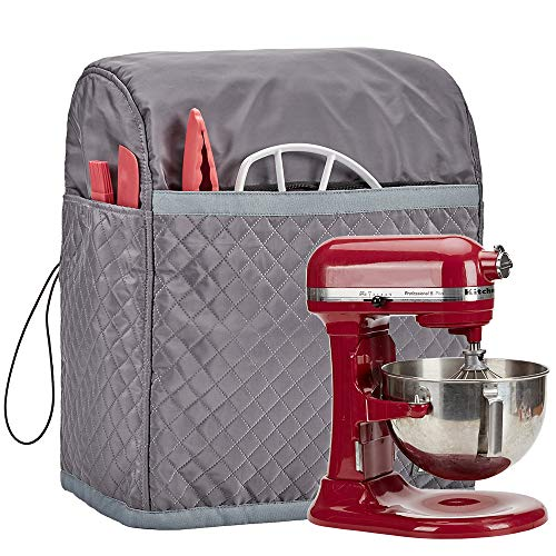 HOMEST Stand Mixer Quilted Dust Cover with Pockets Compatible with KitchenAid Bowl Lift 5-8 Quar ...