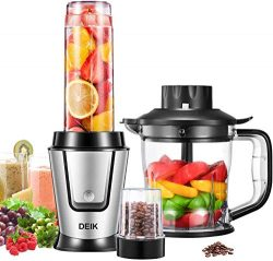Blender Personal Smoothie Blender (BPA free), 5 in 1 Personal Kitchen Assistant with 304 Stainle ...