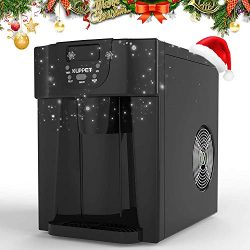 KUPPET 2 in 1 Countertop Ice Maker, Produces 36 lbs Ice in 24 Hours, Ready in 6min, LED Display  ...