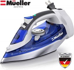 Mueller Prime Steam Iron with 8 Foot Retractable Cord, Premium Even Heat Scratch Resistant Stain ...