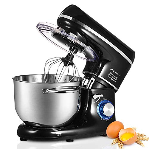 Nidouillet Stand Mixer, Electric Kitchen Mixers 6-Speed,Food Mixer with Dough Hook, Wire Whip &a ...