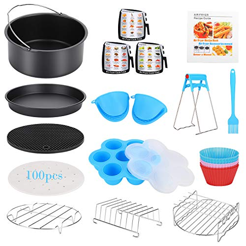 16 Pcs Air Fryer Accessories with Recipe Cookbook for Growise Phillips Cozyna Fits All 3.2QT  ...