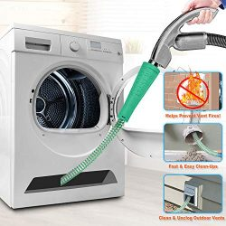 Dryer Vent Cleaner Kit Vacuum Hose Attachment Brush Lint Remover Power Washer and Dryer Vent Vac ...