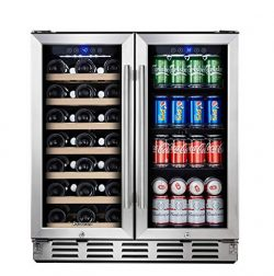 Kalamera Beverage Refrigerator – 30″ Beverage Cooler with Glass Front Door – B ...