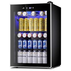 Antarctic Star Beverage Refrigerator Cooler-120 Can Mini Fridge Glass Door for Soda Beer Wine St ...