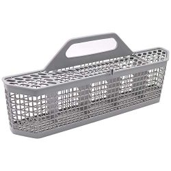 Dishwasher Silverware Basket WD28X10128(19.7″x3.8″x8.4″) Durable Utensils Bask ...