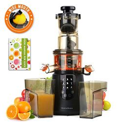 Masticating Juicer, Vestaware Slow Juicer Machines Large Chute Cold Press Juicer with Quiet Moto ...