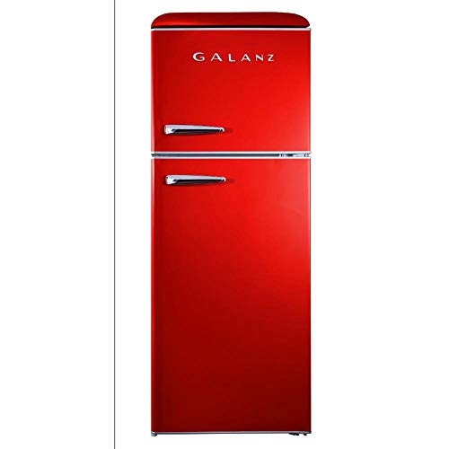 Galanz – Retro Look Refrigerator, 10.0 Cu Ft Refrigerator Top Mounted, Frost Free(RETRO),  ...