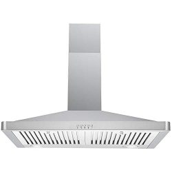 DKB Range Hood DKB-168M-30 30″ Inch Wall Mount Stainless Steel Kitchen Exhaust Vent With 4 ...