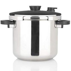 Zavor EZLock 10 Quart Dual-Setting Pressure Cooker with Universal Locking Mechanism and Accessor ...