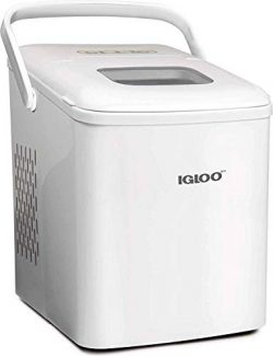 Igloo ICEB26HNWHN Automatic Self-Cleaning Portable Electric Countertop Ice Maker Machine With Ha ...