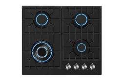 Empava 24″ Gas Cooktop in Black Tempered Glass with 4 Burners 24XGC28