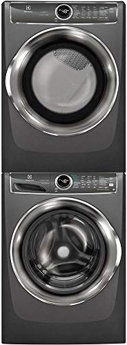 Electrolux Titanium Front Load Laundry Pair with EFLS627UTT 27 Washer, EFMG627UTT 27 Gas Dryer a ...