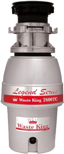 Waste King L-2600TC Controlled Activation 1/2 HP Garbage Disposal with Safer Controlled Grinding ...