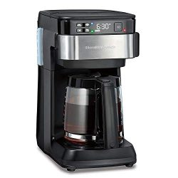 Hamilton Beach Works with Alexa Smart Coffee Maker, Programmable, 12 Cup Capacity, Black and Sta ...